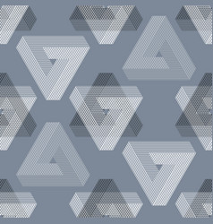 seamless geometric imagination pattern vector image vector image