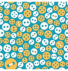 Sewing seamless with buttons vector image
