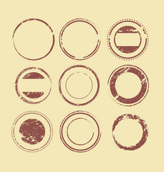 shapes for labels and stamps vector image vector image