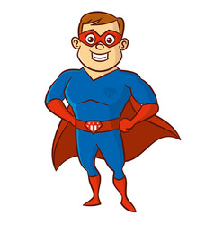 superhero man cartoon character vector image vector image