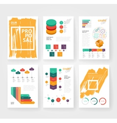 Infographics brochure color grunge vector