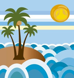 Beach in summer 2 vector