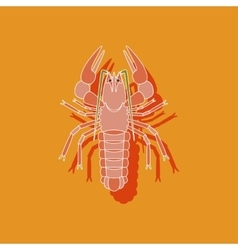 Paper sticker on background of lobster vector