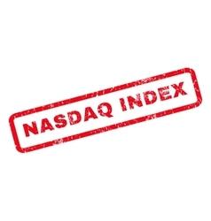 Nasdaq index rubber stamp vector