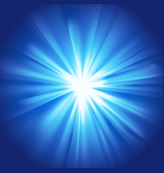 glowing light blue burst vector image
