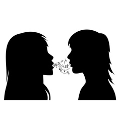 two young women vector image