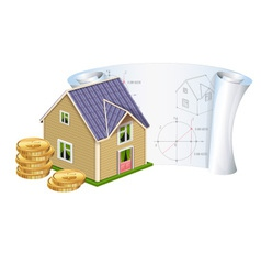 House with money vector