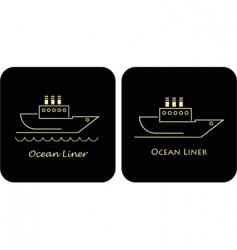 ocean liners vector image