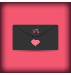 Black stylish love envelope elegant passion vector