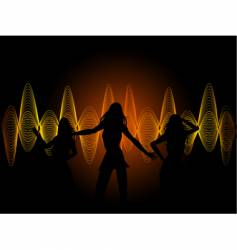 soundwaves and dancers vector image