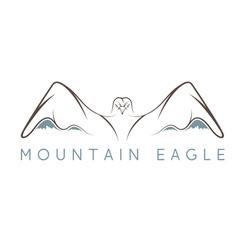 mountain eagle design template vector image