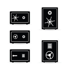 Safe set black and white vector