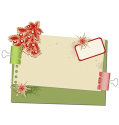 Christmas background with old spotted paper and pa vector
