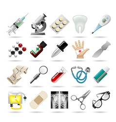 Set of medical icons and tools vector