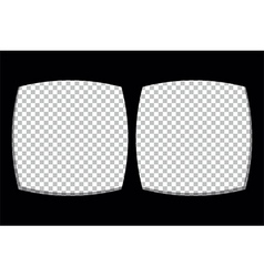 Virtual reality glasses screen frame template vector