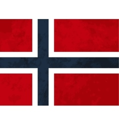 True proportions norway flag with texture vector
