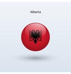 Albania round flag vector
