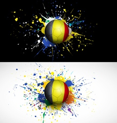 Belgium flag with soccer ball dash on colorful vector image vector image