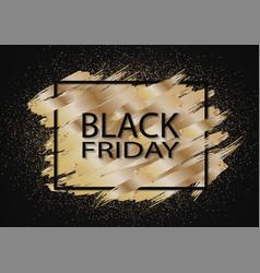 Black friday sale gold glitter background vector