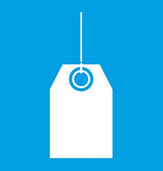 black tag icon white vector image