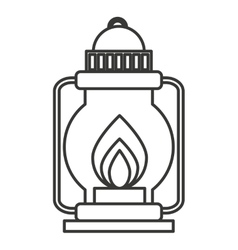 Camping lamp isolated icon vector