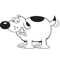 Cartoon happy dog vector image vector image