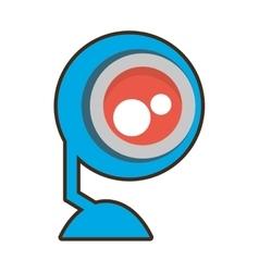 Cartoon web camera play communication vector