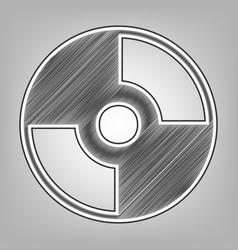 Cd or dvd sign pencil sketch vector