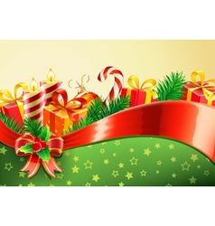 christmas decorative background vector image vector image