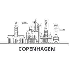 Copenhagen architecture line skyline vector