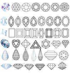 Cut Gem Stones vector image vector image