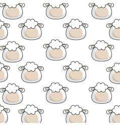 cute sheep kawaii character vector image vector image