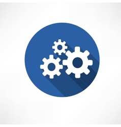 Flat icon of gears vector image