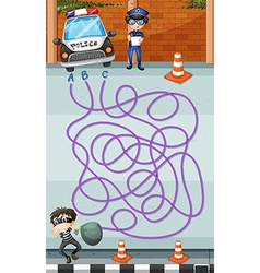 Game template with police and criminal vector