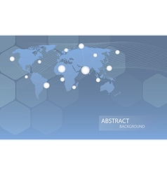 Global communicational channels background vector