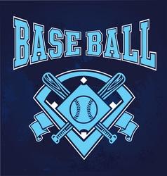 Glowing baseball field vector