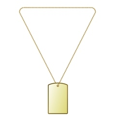 golden tiles on the chain vector image vector image
