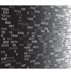 Gray security background with hex-code vector