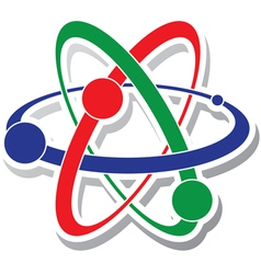 icon of atom vector image vector image
