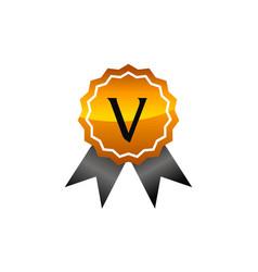 Logo quality letter v vector