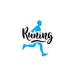 Logo running man vector