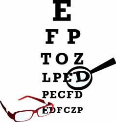 oculist alphabet vector image