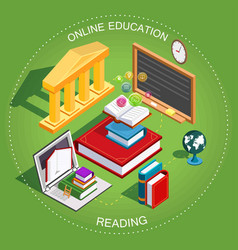 online education isometric vector image vector image