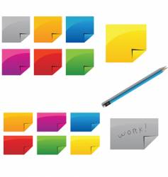 pencil and stickers vector image vector image