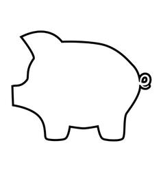 Pig money bank line icon vector