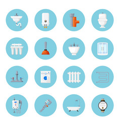plumbing and heating home equipment vector image
