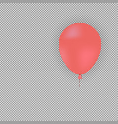 Red helium balloon on transparent background vector