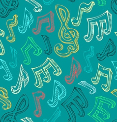 Retro seamless music pattern vector