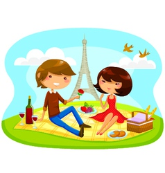 Romantic picnic vector