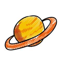 saturn planet cartoon vector image vector image